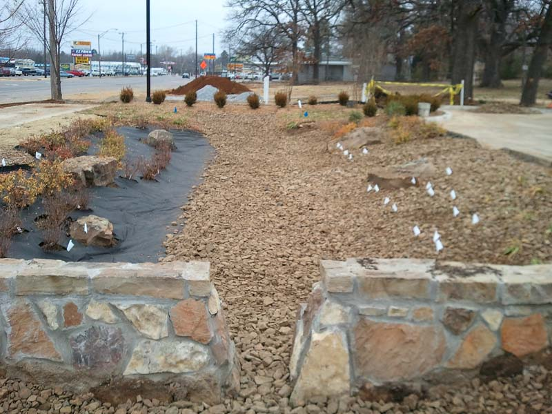 bioswale-near-completion
